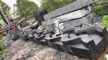加工廠景觀石材造型定制黑山石臺面水缽效果圖設計加工